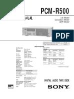 PCM-R500 Manual de Serviço