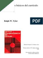 Ralph Tyler - Principios Básicos Del Currículo