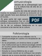 Etnomusicología y Folklorologia