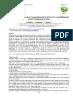 Determination of Chemical Composition of Carob Pod (Ceratonia Siliqua L