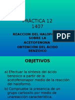 Obtención de Ácido Benzoico