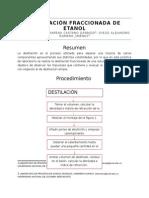 Informe destilacion fraccionada