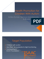 Oral Health Promotion for Children With Autism