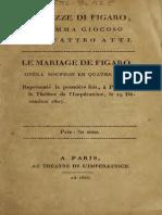 Le Nozze Di Figaro; Dramma Giocoso in Quattro Atti. Le Mariage de Figaro; Opéra Bouffon en Quatre Actes. Représenté La Première Fois, à Paris, Sur Le Théâtre de l'Impératrice, Le 19 Décembre 1807 (1807)