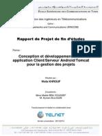 Conception et développement d'une application Client/Serveur Android/Tomcat pour la gestion des projets