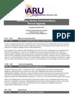 DARU  Advocacy Sector Conversations Forum - Agenda