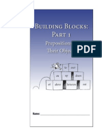 Building Blocks Part Prepositions Student Guide