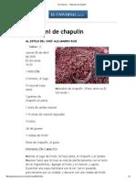 El Universal - - Mezcalini de Chapulín