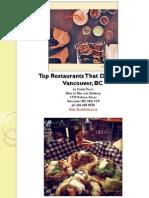 Top Restaurants That Deliver in Vancouver British Columbia