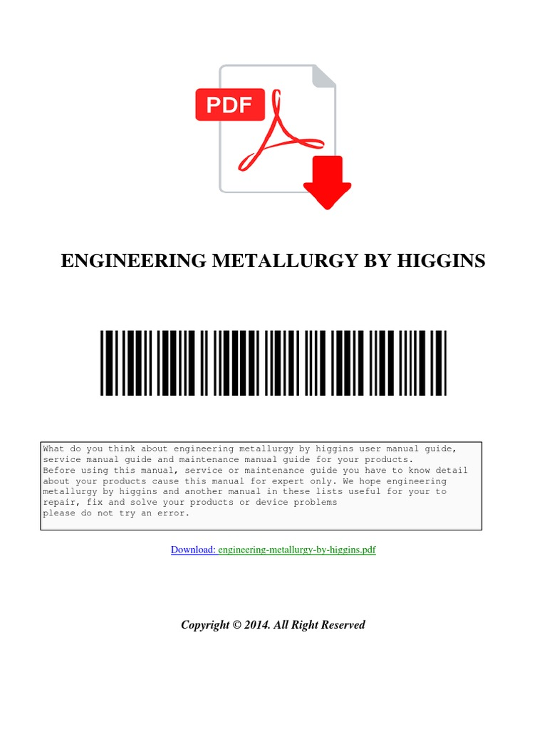 A Textbook Of Material Science And Metallurgy Pdf