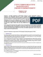 Proactive vs Reactive Maintenance