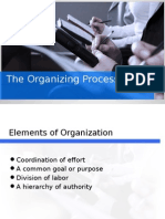 The Organizing Process and Communication