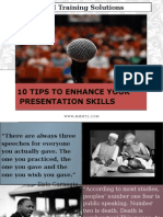 10 Tips for Presentation Skills