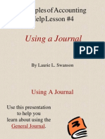 4. Using a Journal