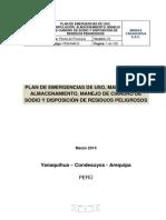 Plan de Emergencia de Uso y Manejo de Cianuro y Disposicion de Residuos Peligrosos