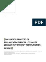 Analisis Propuesta de Reglamentación Ley de Victimas y Restitución de Tierras 2011