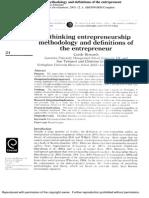 (Ggod) Rethinking Entrepreneurhip Methododology &Definition of Entrepreneur
