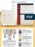 Feasts of the Bible - Chart