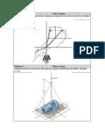 Ejercicios de equilibrio de la partícula en 3D