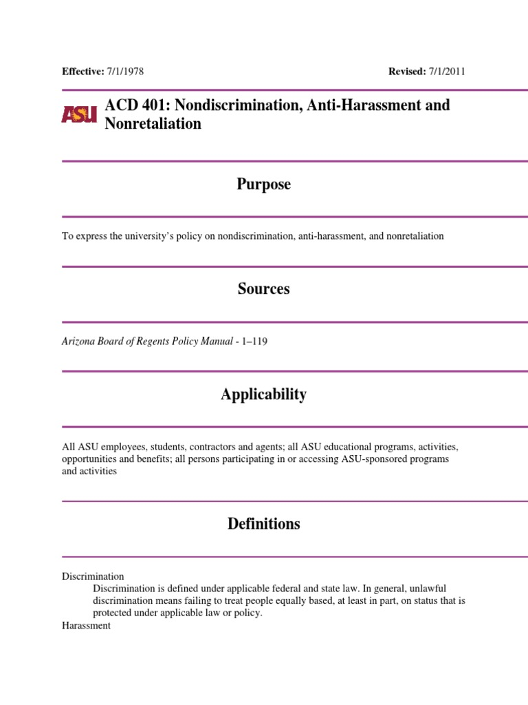 Sexual harassment act applicability define