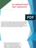 Descoperirea radioactivitatii