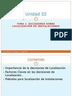 Unidad III Tema 2 Decisiones Sobre Localizaciones PDF