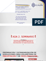 PREPARACIÓN Y ESTANDARIZACIÓN DE DISOLUCIONES PARA VOLUMETRÍAS DE PRECIPITACIÓN Y DE ÓXIDO-REDUCCIÓN