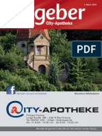 Ratgeber aus Ihrer City-Apotheke – März 2015