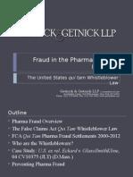 Fraud in Pharma April 2013