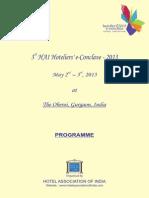 Hoteliers E-Conclave Brochure 2013