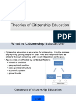 Theories of Citizenship Education