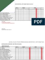 Jadwal Kuliah SPA 5 2014 b