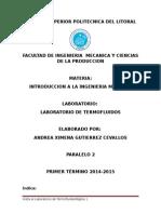 Informe Laboratorio de Termofluidos