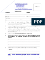 Application Forms for Trainee Professional Members
