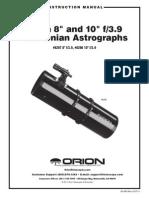 Orion telescopios astrógrafos 8, 10