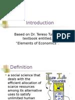 1 Economics Introduction Lecture