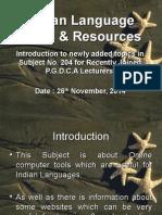 Indian Language Tools & Resources