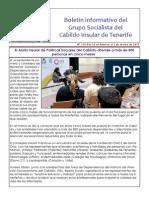 Boletín del Grupo Socialista del Cabildo de Tenerife 115. 23 de Febrero - 1 de Marzo 2015