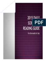 2015 Daily Scripture Reading Guide-month of July
