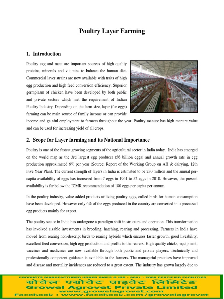 NABARD layer farming project pdf | Poultry Farming | Poultry