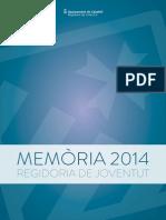 Memòria Regidoria Joventut 2014