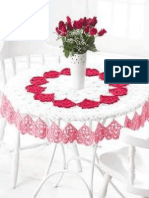 Crochet Valentines Day Tablecloth