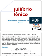 Equilíbrio Ionico rofº Agamenon Roberto cb_penatrujillo