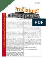 March 2015 Proclaimer