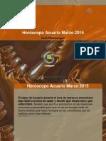 Horóscopo Acuario Marzo 2015