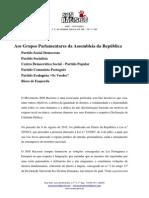 Requerimento Grupos Parlamentares - SOS Racismo - Lei Imigração - 2015