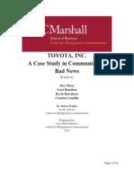 Toyota Inc. - Case