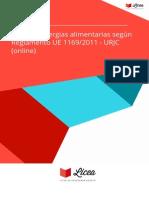 Curso Alergias Alimentarias Segun Reglamento Ue 11692011 Urjc Online