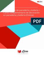 Curso Elaboracion Decoracion Panaderia Bolleria Online