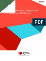 Curso Ingles Para Profesionales Nivel Avanzado b2 Online